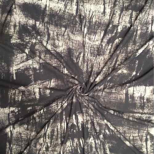 Abstract Fabric Black and White