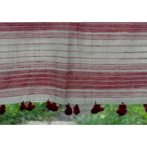 Red Border with Red Tassels On