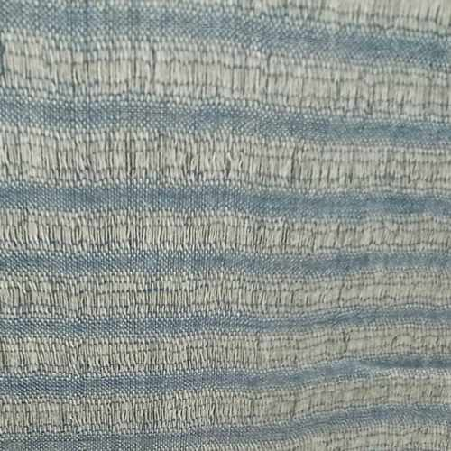 Jali Blue Woven Stole with Blue Tassels