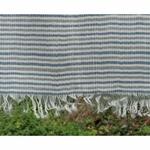 Woven Blue-Grey Stripes