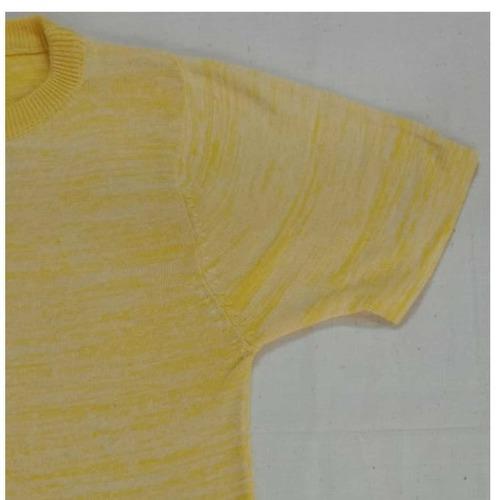 Beautiful Yellow Textured T-Shirt