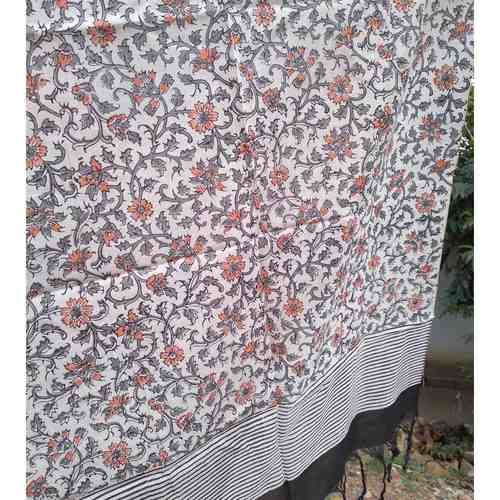 Floral and Lines Stole