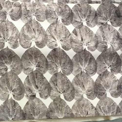 Leaf Print with Dhavri Based