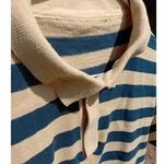 Dark Blue And Anaarchal Stripes Polo Neck T-Shirt