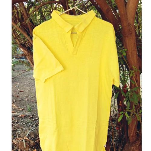 Deep Yellow Polo Neck T-Shirt