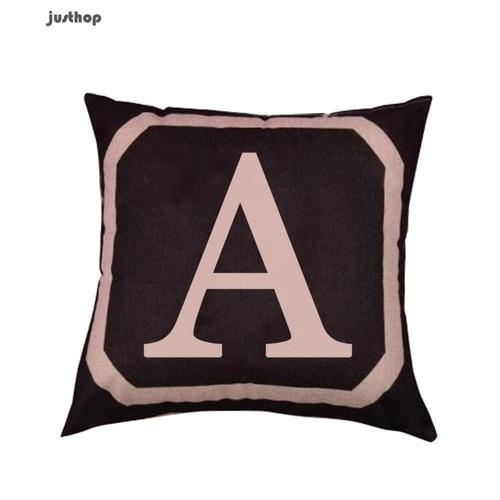 Alphabet Cushion Pillowcase Cover