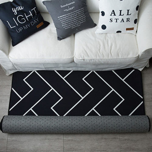 Continental Modern Carpet Black & White Big Size - 6 Sizes