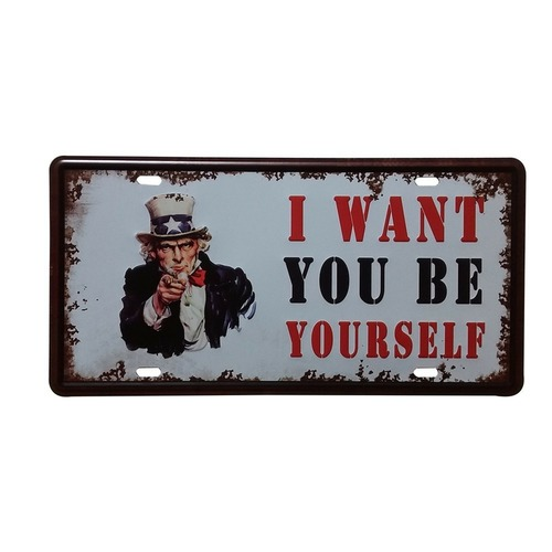 Vintage License Plate Wall Decor