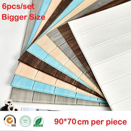 6pcs/set PE Foam 3D Brick Wallpaper Home Dècor
