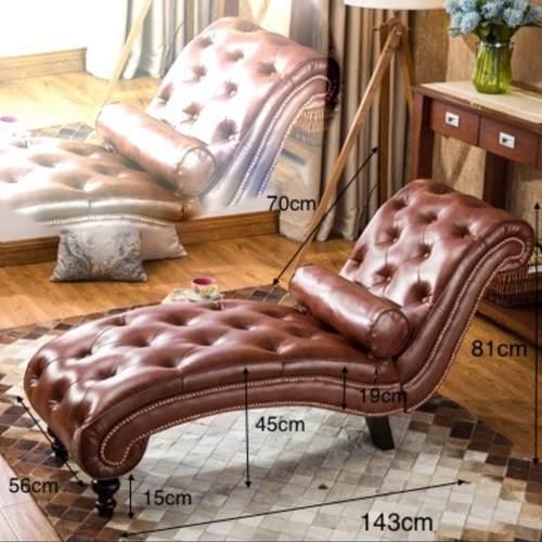 European Suede Velvet Lounge Chair