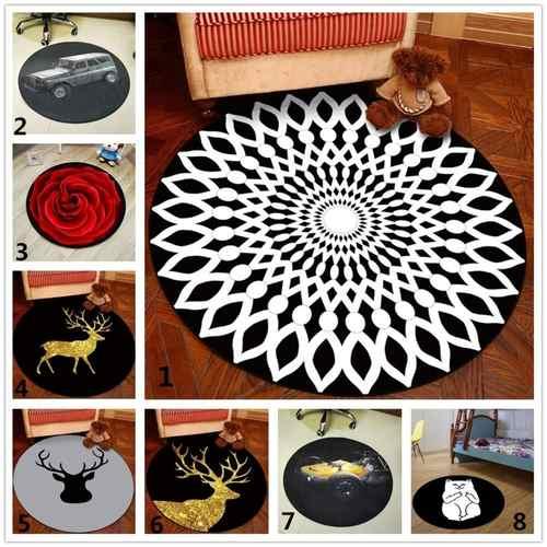 Round Printed Carpet
