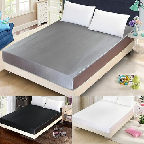 Fitted Satin Bedsheet Queen/King Size Mattress