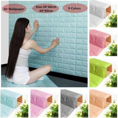 Creative 3D PE Foam Colored Wallpaper Wall Decoration