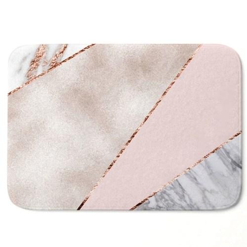 Rose Gold Geometric Marble Mats