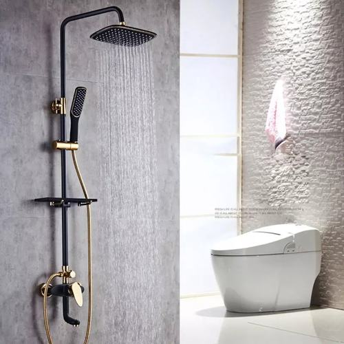 Black and Gold Shower set Occident style Rainshower Set