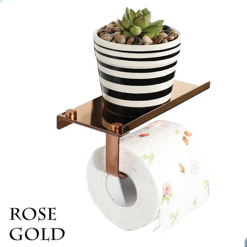 Multifunction toilet paper rack with phone shelf