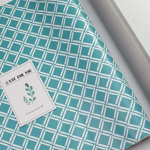 Tribal Turquoise Pattern Wallpaper Rolls with Free Gift