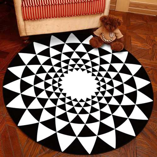 Round Geometric Carpet