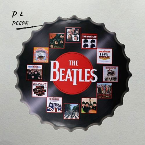 The Beatles Metal Cap Wall Decor