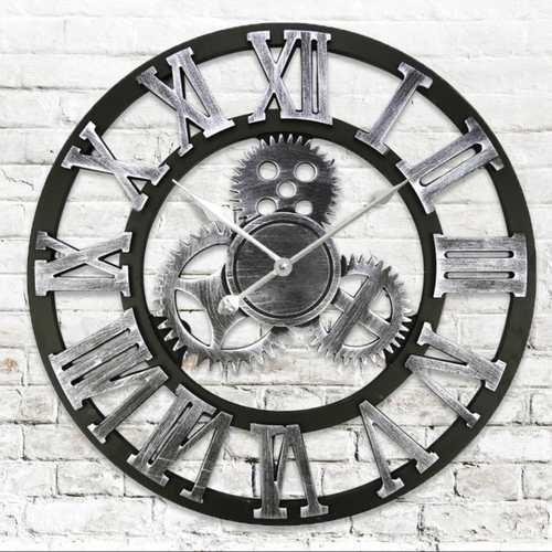 European Retro Gear Pattern Wall Clock