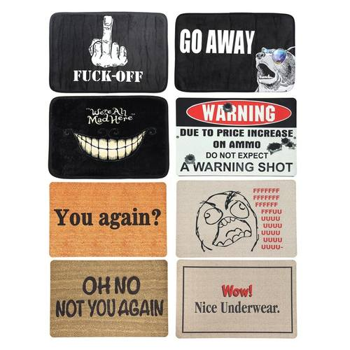 WARNING Quotes/Wording Doormat