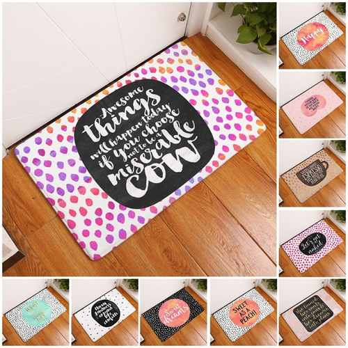 Colourful Words Pattern Carpet Living Room/Bedroom Mat