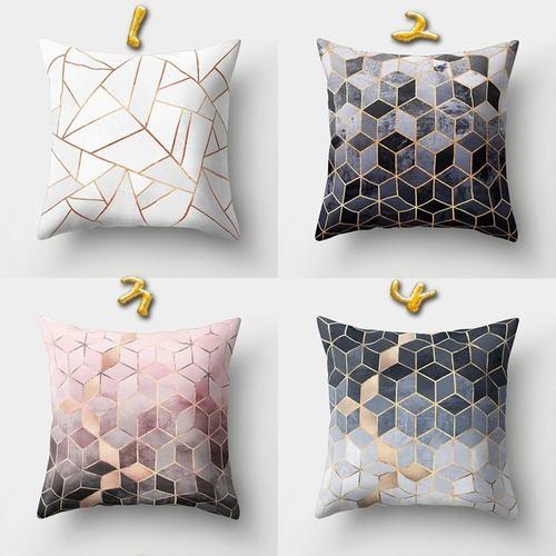 Geometric Pillow Cushion Cover Square Shape