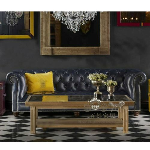 Keaton Chesterfield Leather Sofa Set