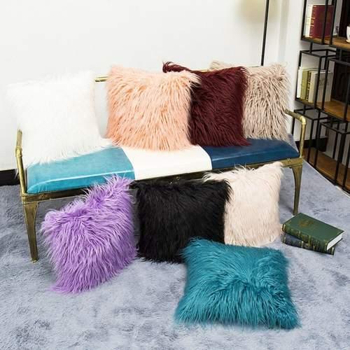 Mongolian Faux Fur Cushion Cover