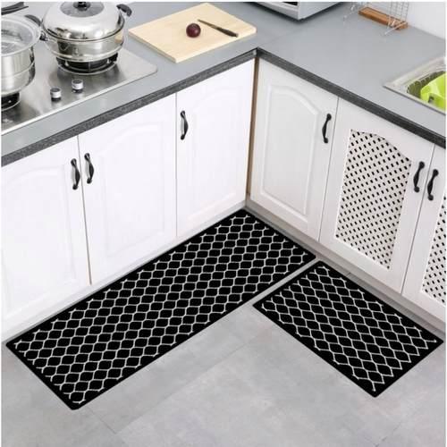2pcs/Set Geometric Patterns Kitchen Mat/Rug