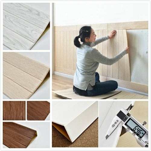 Stereo Wallpapaper Foam Wooden Bricks