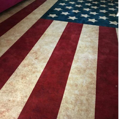 Printed US/UK Country Flag Rug
