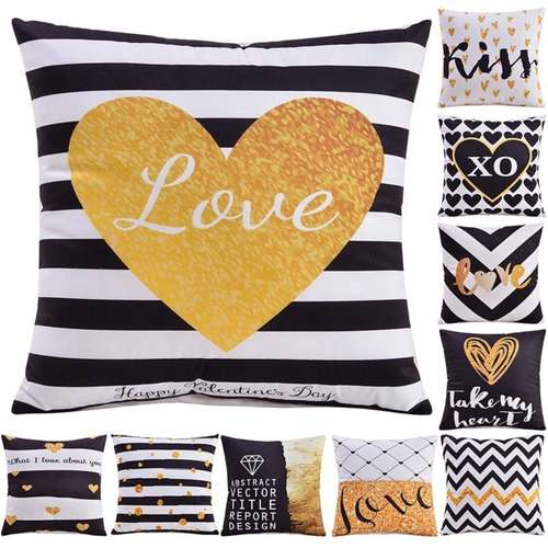 Lovely Word Printed Cushion Covers
