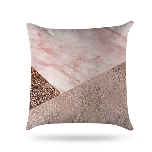 Pink Marble Cushion Covers