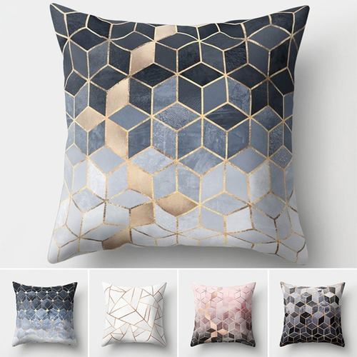 Geometric Pillow Cushion Cover Square Shape