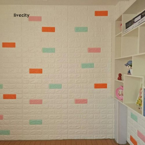 3D Retro Embossed Brick DIY Wall Sticker