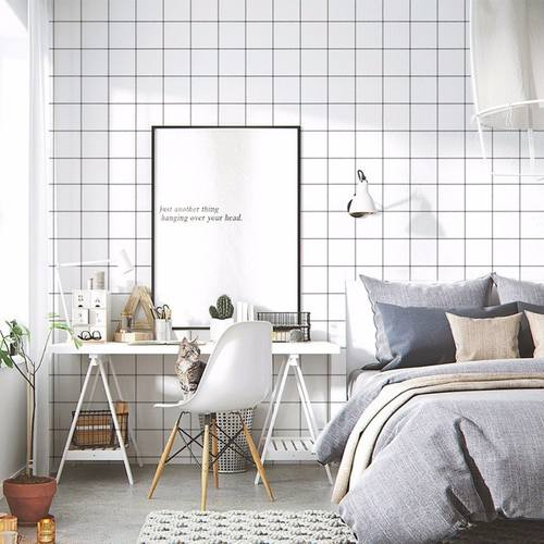Grid Pattern Wallpaper 5mx60cm with FREE gift!