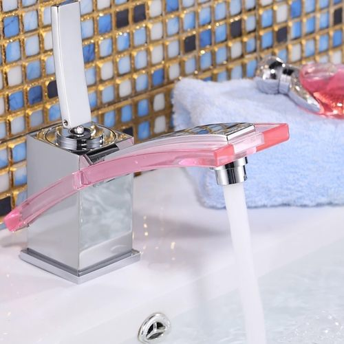 Modern Stylish Bathroom Tap with Blue/Pink Color