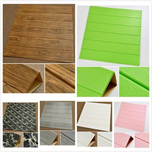 3D Wooden PE Wallpaper Foam