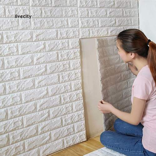 3D Retro Embossed Brick DIY Wall Sticker