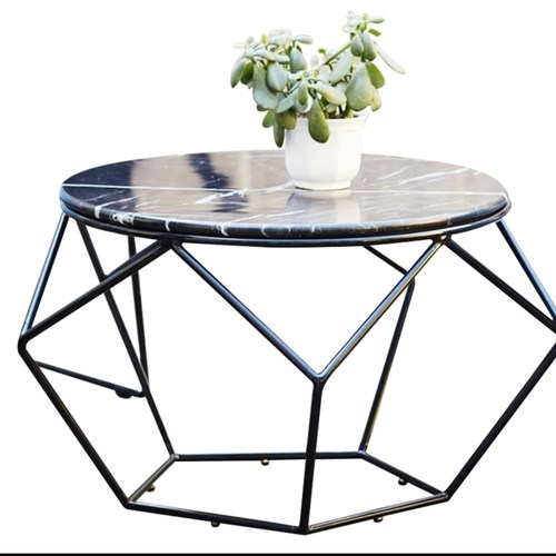 Nordic Geometric Marble Coffee Table