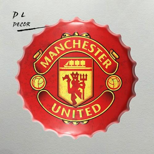 Manchester United Bottle Cap Wall Decor