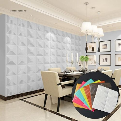 3D Geometric Wallpaper Foam