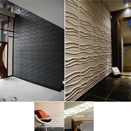 Latest Design 3D Wavy Lines PE Foam Wallpaper
