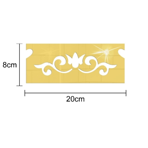3D Vynil Waistline Carving Wall Decor