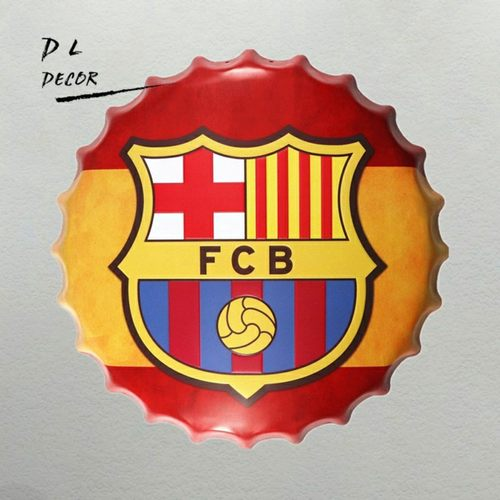 FCB Metal Cap Tin Wall Decor