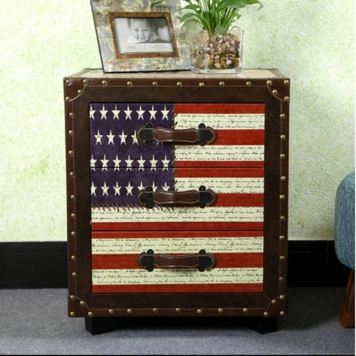 American Countryside Retro Bedside Table