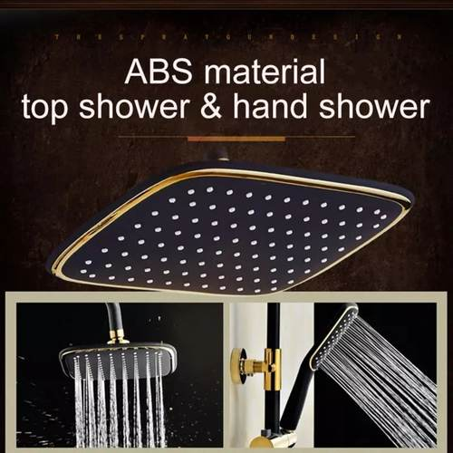 Black and Gold Shower set Occident style Rainshower Set