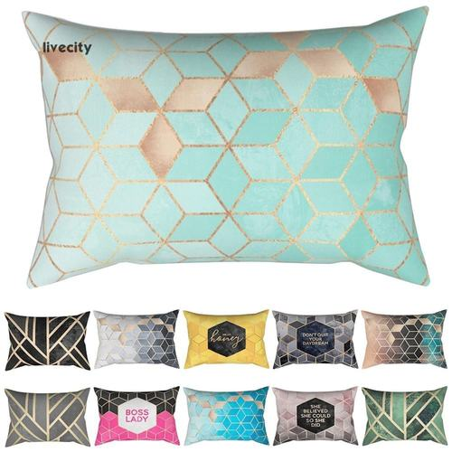 Geometric Cushion Cover Rectangle