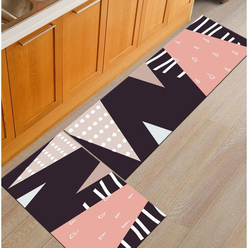 2 Pcs Modern Pattern Kitchen/Door Mat